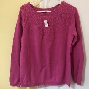 Pink sweater from Talbots, size M, with tags